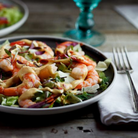 Prawn Cocktail Salad w/Marie-Rose dressing