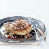 Pork Chops with Pomegranate and Fennel Salsa