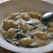 Chicken & Gnocchi Soup with TraderJoe's gnocchi