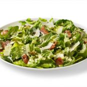 Caesar Salad With Bacon, Brussels Sprouts & Basil