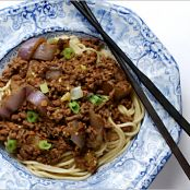 Chinese Egg Noodles with Beef & Hot Bean Sauce