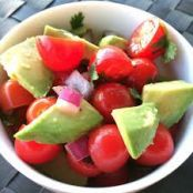Red Grape, Grape Tomato and Avocado Salad