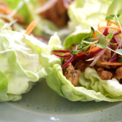 Honey Lemon Chicken Lettuce Wraps