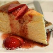 New York-Style Cheesecake with a Fresh Strawberry Topping