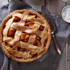 Salted Caramel Apple Pie with Lattice Crust