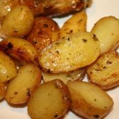 Greek Style Oven Roasted Lemon Butter Parmesan Potatoes