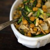 Brown Rice Bowl with Asparagus and Chickpeas