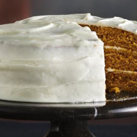 PUMPKIN-SPICE CAKE WITH CREAM CHEESE FROSTING