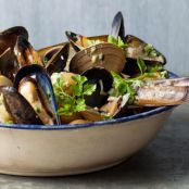 Seafood: Shellfish and Potatoes a la Mariniere