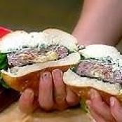 Inside-Out Bacon Cheeseburgers with Grilled Green Onion MayoRecipe courtesy Rachael Ray