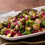 Roasted Brussels Sprouts With Pomegranate and Hazelnuts