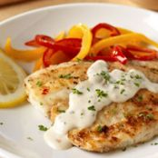 Pan Fried Fish with Creamy Lemon Sauce for TWO