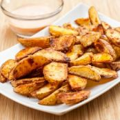 Oven Roasted Potato Wedges with Spicy Dip