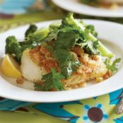 Sear-Roasted Haddock or Cod with Horseradish Aïoli & Lemon-Zest Breadcrumbs