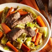 Slow Cooked Beef & Vegetables for Two