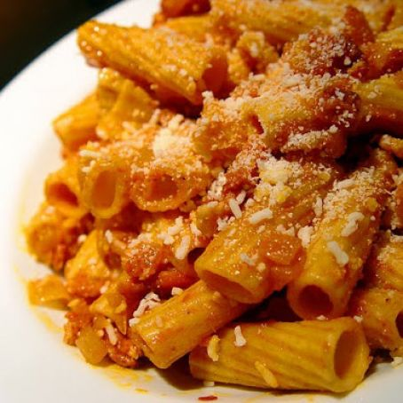 Rigatoni All Amatriciana Rossa