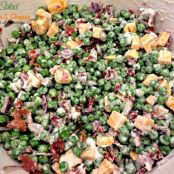 Pea Salad with Bacon & Cheese