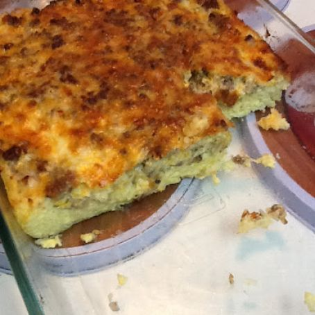 Breakfast Casserole with Hash Browns and Sausage