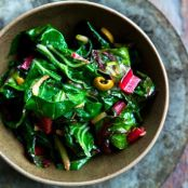 Swiss Chard with Olives Recipe