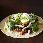 Coconut-Lime Pork Tacos with Black Beans & Avocado