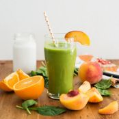 Coconut Peach Green Smoothie
