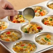 Mini Chicken Pot Pies with Bisquick