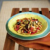 Whole Wheat Penne with Eggplant and Tomato