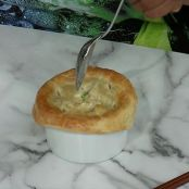 Chicken-Ramen Noodle Pot Pie
