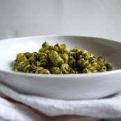Pasta with Creamy Basil-Almond Pesto