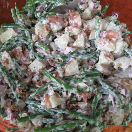 New Potato Green Bean Salad with Fresh Fennel & Bacon