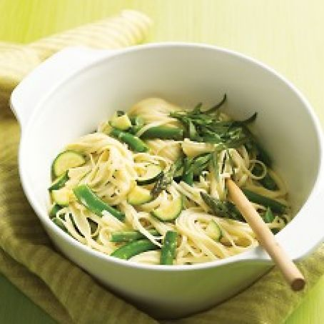 Linguini with Spring Vegetables