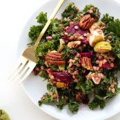 Kale, Lentil and Roasted Beet Salad