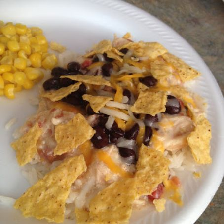 Mexican Crock Pot Chicken with Cream Cheese