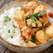 Red Curry Almond Chicken