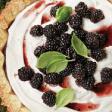Blackberry Basil Pie