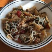 Spinach and Tomato Bowtie Pasta