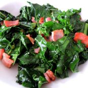 Sauteed Kale, Onion and Bacon