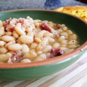 White Beans & Ham - Crock Pot Version