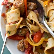 "Italian ""Drunken"" Noodles with Spicy Italian Sausage"