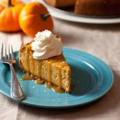 Pumpkin Cheesecake with Salted Caramel Sauce