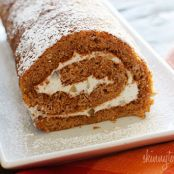Lightened up Pumpkin Roll