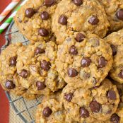 Pumpkin-Oat Chocolate Chip Cookies