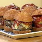 Mini Chipotle Beef Burgers with Warm Fire Roasted Garlic Ketchup