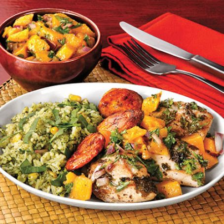 Chicken with Lime & Plantains