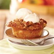Apple Cinnamon Cobbler Cakes