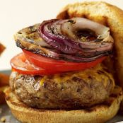 Cheeseburgers with Grilled Onions