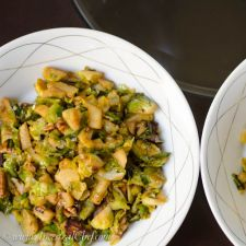 Paleo Apple Pecan Brussels Sprouts