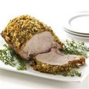 Mustard Sauce Herb Crusted Pork Roast