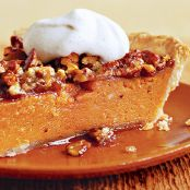 Sweet Potato & Pecan Pie with Cinnamon Cream