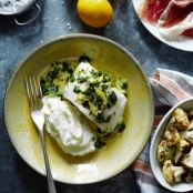 Roast Halibut With Meyer Lemon Mojo Verde
